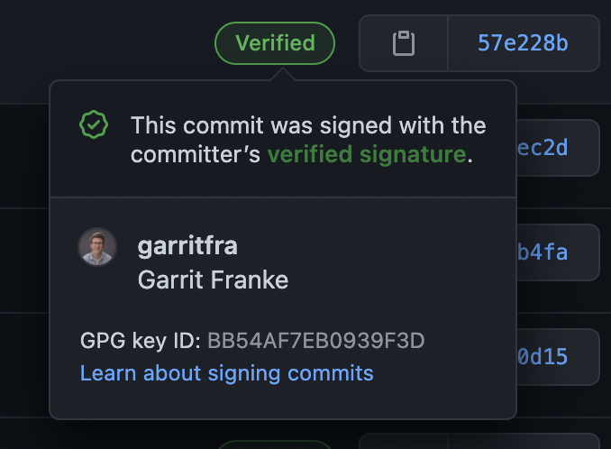 A signed commit